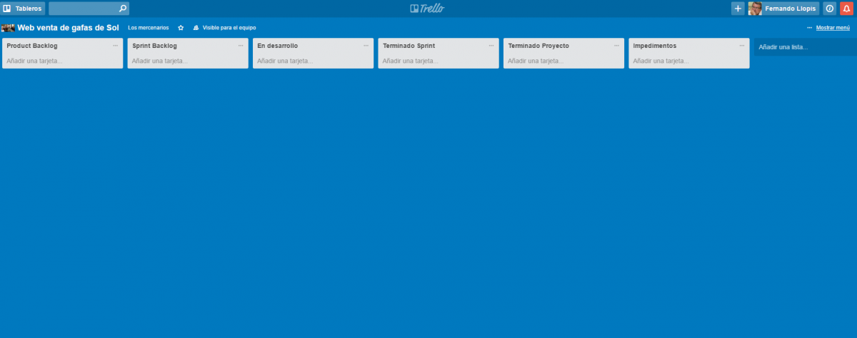 Tableros Scrum con Trello